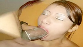 A girl giving a blowjob