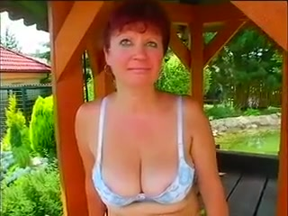 Redhead amateur outdoors