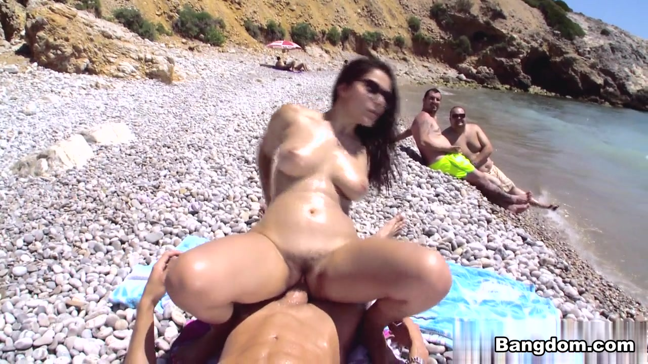 Ass fucking at the beach
