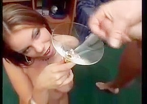 Shy wife tricked into gangbang bukkake