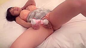 【北川瞳】初々しいJk娘が電マオナニー!完全にオーガズムの病みつきに!