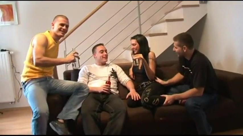 Real german wife gangbanged and creampied man