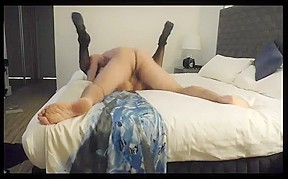 Wife tries 12 inch black cock