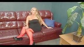 Wife watching husband sucking dick