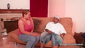 Slutty big boobed gives head to monster BBC