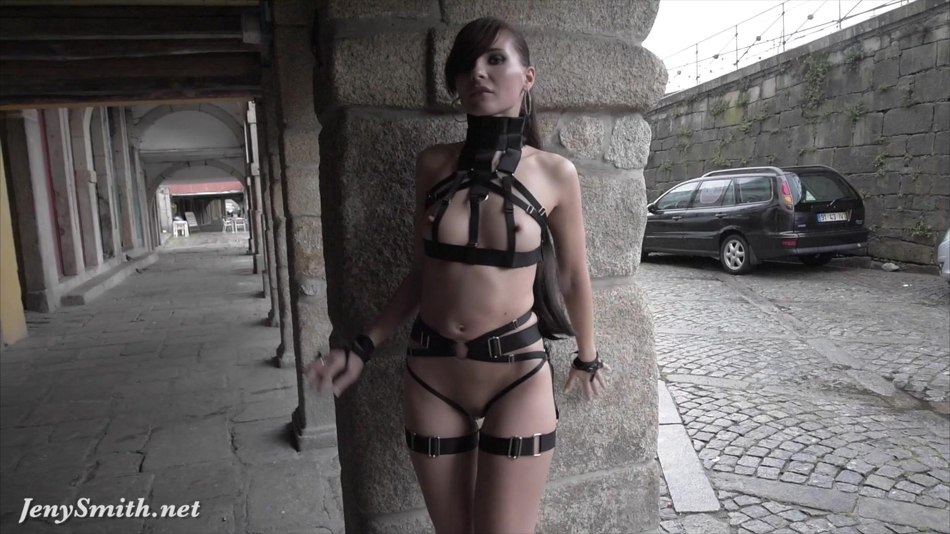 Jeny Smith - Mymokondo Strap Bondage In Public  Jeny -2719