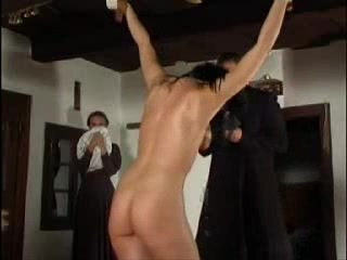 Slave girl is tied up and whipped a sexy nun tube cup