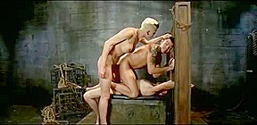 top shelady dominates two fellows real coarse... have a fun