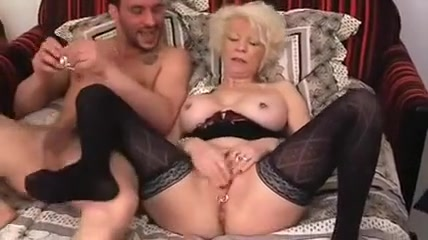 hot woman in stockings has sex