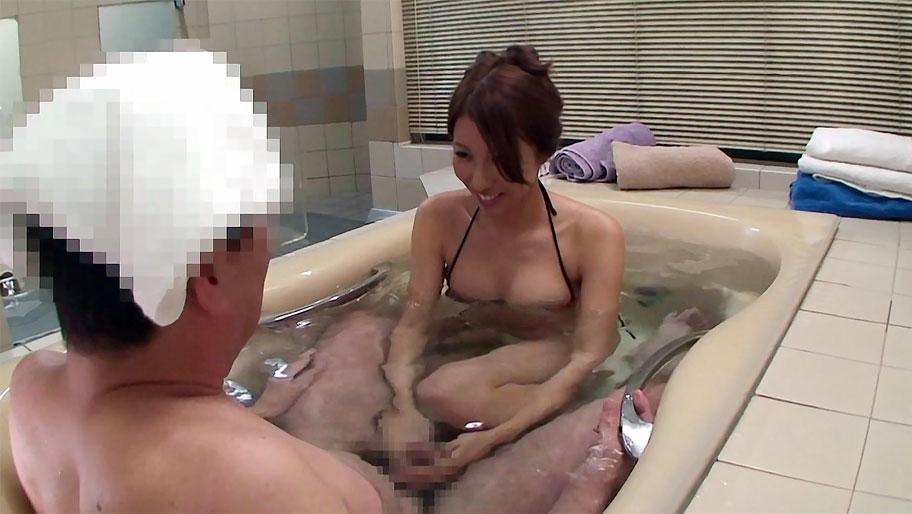Virtual handjob in the bathroom