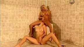 Lesbian squirt fist flush
