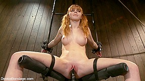 Big breasted red head