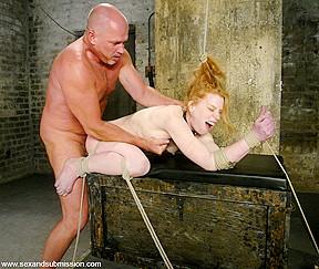 Hot redhead fucks plumber