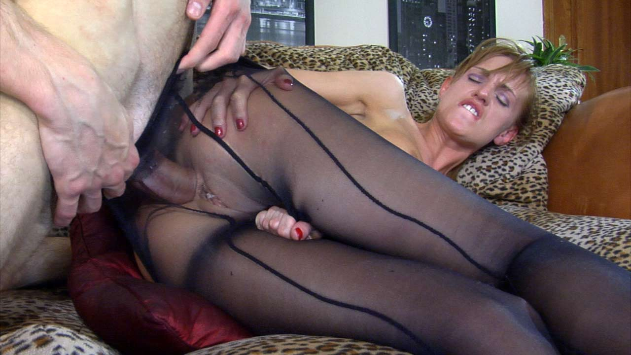 Teen Stocking Anal Tube