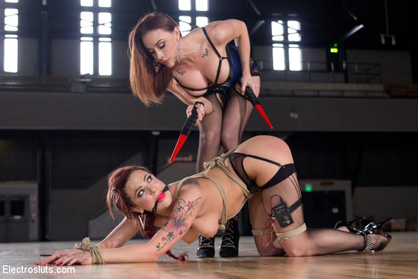 Lesbian bondage electro can not