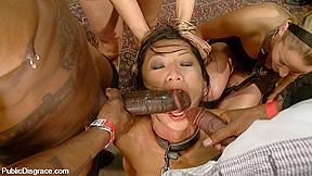Teen interracial brunette tiffany