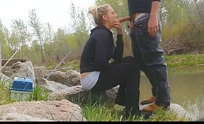 Dani woodward outdoor threesome