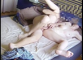 Wife giving husband blowjob