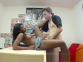 Asian and black girl threesome