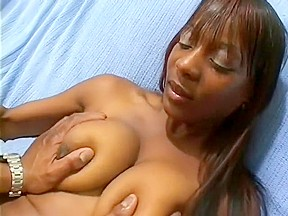 Ebony female on male nipple sucking