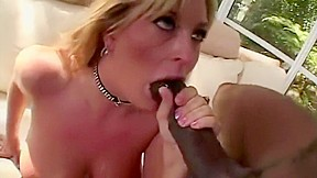 Brazilian blonde pounded by black cocks