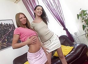 Sexy strip girl on girl