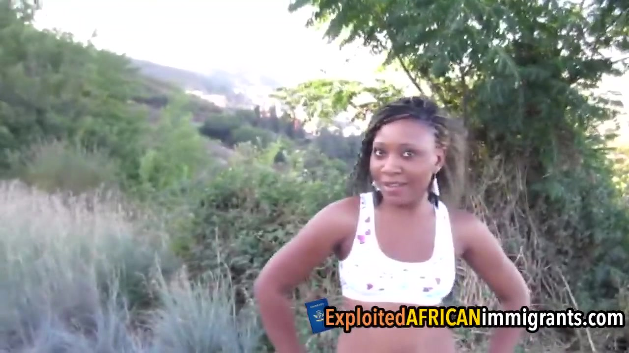 African Amateur Teen Pleases White Cock For Cash -9014