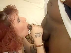 Redhead cums on dick