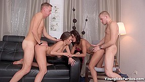 3 busty lesbians orgy party 02