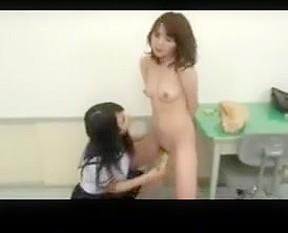 Lesbian having sex with teacher