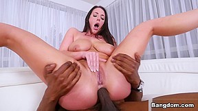Interracial blacks fuck blonde