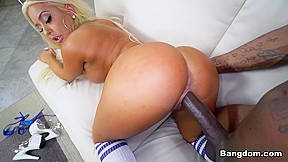 Bending over showing ass and pussy
