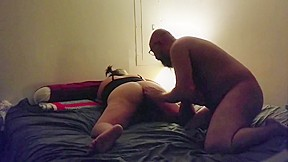 Huge cock shoved up ass