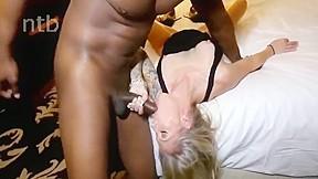 Sexy black pussy fucked hard