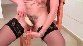 Hairy lesbian pussy licking