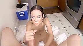 Asian woman living in