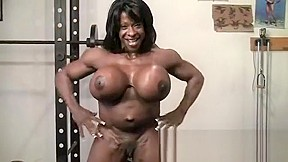 Ebony babe in interracial mmf movies