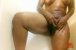 Ebony foxy fun shemale