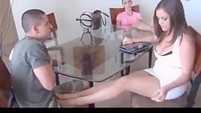 Wife wearing garters fuckedby black cock