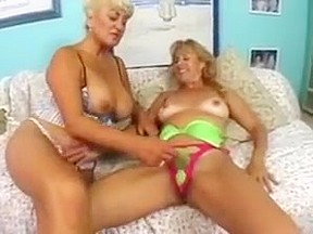 Lesbian dildo young old