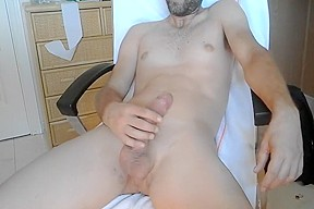 Amateur nude at work