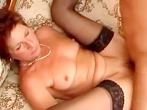 Horny blonde fucking cock in 3some