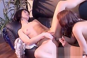Lesbian boss uses lesbian foot slave