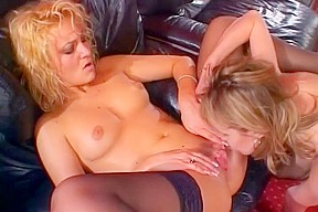 Lesbians naked in bed