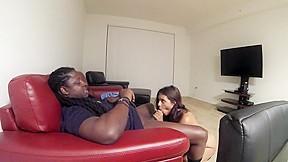 Big black tits theater
