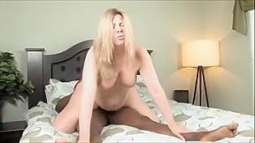 Blond mature sagging tits