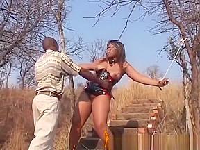 Outdoor sex in the woods