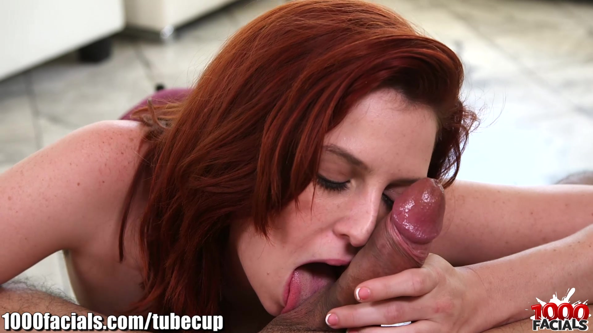 1000facials my cock spitting on a redhead bitch039s forhead 8