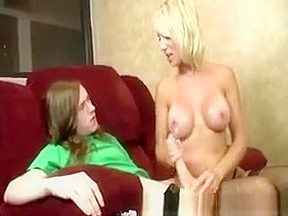 Blond wife gets cum sho