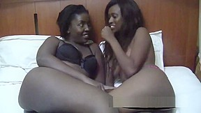 Young ebony amateurs fucking video